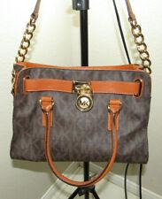 Authentic MICHAEL KORS Hamilton Signature MK Logo Leather Satchel Bag Handbag