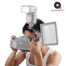 For Camera Flash Light Adapter Holder Metal Double Hot Shoe Mount Bracket Stand