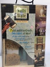 Walls w/ Style 2 Color System TWIN ROLLER Sponge Stamper Faux Finishes Painting