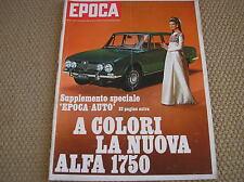 EPOCA 1968 ALFA ROMEO 1750 DALIDA LUIGI TENCO PIERINO PRATI D'ACQUARONE BASSI