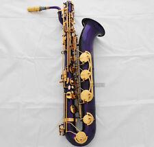 Professional New Purple Baritone saxophone Low A High F# Eb Bari Sax With Case