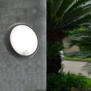 CGC Black Motion Sensor PIR Bulkhead Round Light Wall Ceiling Security Night