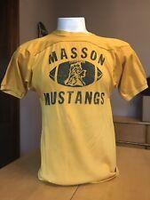 VINTAGE 1960's DURENE MASSON MUSTANGS HIGH SCHOOL FOOTBALL SHIRT americana