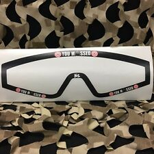 New Km Paintball Goggle Mask Wrap - Jt Spectra Lens - You Missed