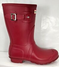 Hunter Original Short Rain Boots red Women US 9