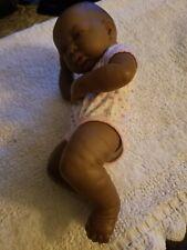 BERENGUER AFRICAN AMERICAN NEWBORN BROWN EYES & BLACK HAIR GIRL BABY DOLL 23-05