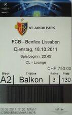 TICKET UEFA CL 2011/12 FC Basel - Benfica Lissabon