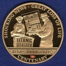Cook Islands 2012 Gold Plated Dollar, Titanic, Shocking News (Ref. t1324)