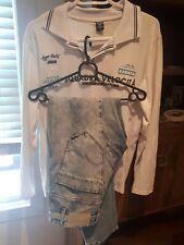 Armani shirt White size L & Jack And Jones Denim Jeans Mens size 30 Acid Wash