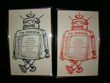 Retro Robot Framed Poster Prints Lot Set ENTERPRISE Anatomy Telephone Satellite