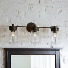 Mason Jar Lights Light Lighting Wall Vanity Bar Fixture Fixtures Strip Bathroom
