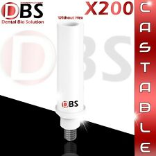 200X Plastic Castable Abutment Without Hex + Screw For Dental Implant Dentist