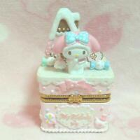 Sanrio My Melody Accessory Case Jewelry Box Figure Doll Figurine White Used