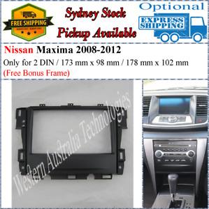 Fascia facia Fits Nissan Maxima J32 2008-2013 Double Two 2 DIN Dash Kit