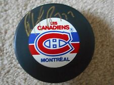 NHL HALL OF FAMER  PATRICK ROY MONTREAL CANADIENS AUTOGRAPHED PUCK W/COA