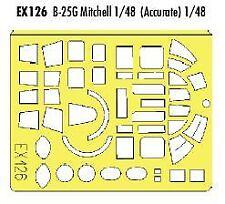 Máscara Pintura Eduard 1/48 B-25G Mitchell para Italeri/accurate Miniatures # EX126
