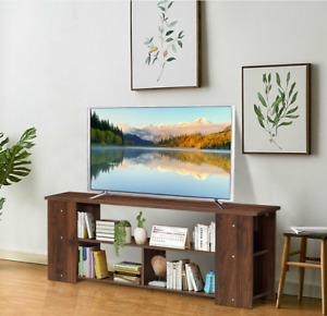 TV Stand Entertainment Media Center Console Shelf Cabinet Brown/Black