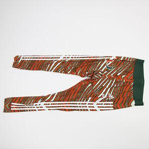Miami Hurricanes adidas Alphaskin Compression Pants Men's Orange/Green Used