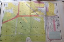 ORIG 1927 E. ROBINSON NEWARK NEW JERSEY NEW YORK BAY RAILROAD CO. ATLAS MAP