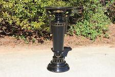 Fancy Victorian Ebonized Aesthetic Period Oval Pedestal ~ Ca.1880