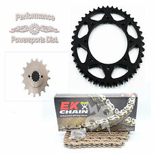 KAWASAKI KL650 KLR NEW SPROCKET & EK GOLD O-RING CHAIN SET 16/42 1990 - 2016