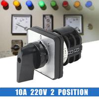 220V 2 Positions Nockenschalter Drehschalter Wendeschalter Umschalter LW8D-10A