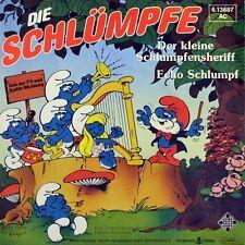 """7"""" DIE SCHLÜMPFE Der kleine Schlumpfensheriff SMURFS TELEFUNKEN 1982 NEUWERTIG!"""