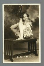 RP c1920s SELLS FLOTO CIRCUS Sideshow Performer ARMLESS WOMAN Studio FREAK SHOW