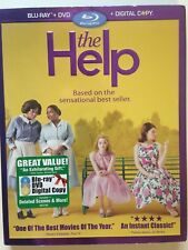 The Help (Blu-ray/DVD, 2011, 3-Disc Set, Incl Digital Copy)(NEW) Based on Novel