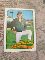 Manager Tony LaRussa Oakland A's 1989 Topps Card Ungraded*