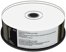 25 Professional Rohlinge Blu-ray BD-R DLfull printable Thermo 50GB 6x Spindel