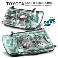 For TOYOTA Landcruiser 100 Series LX470 Diamond Reflector Green Headlights Lamp