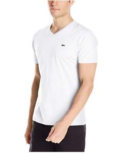 NEW Lacoste Men's Short Sleeve Jersey Pima V Neck T-Shirt  SIZE: S - XXXL