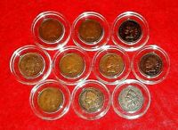 LAST Decade of Indian Head Cents (1900-1909) Ten (10) Coin Lot Encapsulated
