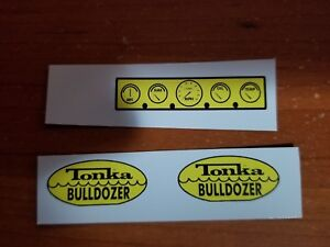 TONKA TRUCK  BULLDOZER DECAL SET WITH DASH INCLUDED