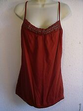 Esprit Brick Red Cotton Top. Chainmail Metal Rings.Adjustable Narrow Straps.XL