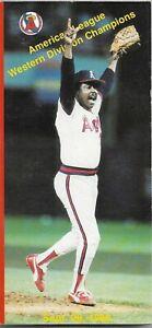 1987 CALIFORNIA ANGELS MLB MEDIA GUIDE VINTAGE FREE SHIPPING