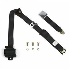 3 Point Retractable Airplane Buckle Black Seat Belt (1 Belt)