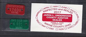 Wayne Co, OH gog license tags & scale seal