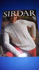Sirdar Men's Sweater Knitting Pattern 5300