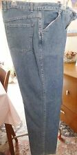 Woman's Unlabeled Classic Blue Denim Jeans 100% Cotton Made in USA Size 10