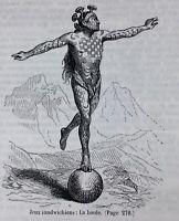 Polynésie 1868 Océanie Arago Voyage autour du monde Îles Mariannes Sandwich