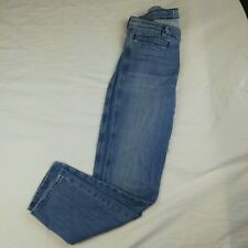 MiH Women's THE PARIS Jeans Size 30 (AUS 12) Light Wash Cropped Straight Leg
