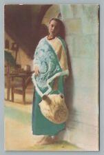 Pretty Water Carrier Woman ESTADIO de Mexico INDIAN Indio Native Girl  ~1940s
