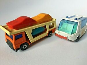 Vintage Matchbox, 2, Made in UK 1971, Lesney Superfast, No 46 and No 11