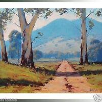 Listed Artist Australian Painting Oil on Canvas Australia Landscape Painting