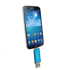 64GB USB 2.0 Flash Drive OTG Dual Port Memory Stick Pen Drives Blue