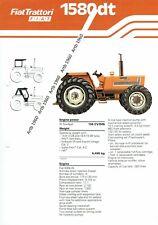 Fiat 1580dt tractor 4 pg leaflet /Brochure 1979?