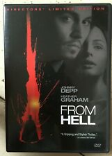 From Hell DVD 2001 Jack The Ripper Horror Film Movie Thriller US R1 2-Discs