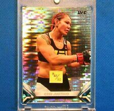 "*CHRIS CYBORG* >CHROME ""PULSAR"" PARALLEL CARD< !! '18 TOPPS UFC *(XRARE(#01/50)*"